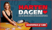 Hartendagen in Oranje Casino bij live blackjack
