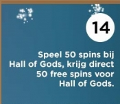 50 free spins voor Hall of Gods